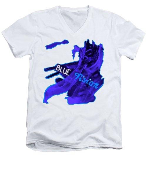 Blue Vision Men's V-Neck T-Shirt