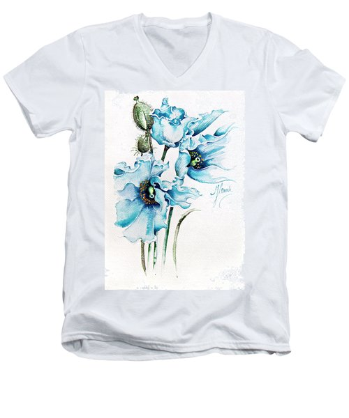 Blue Wind Men's V-Neck T-Shirt