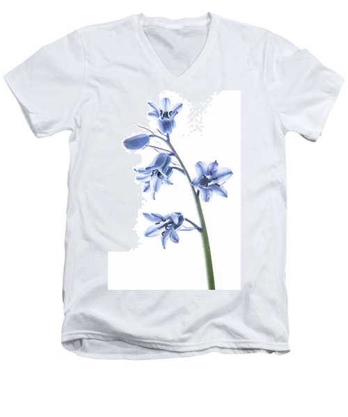Bluebell Stem Men's V-Neck T-Shirt