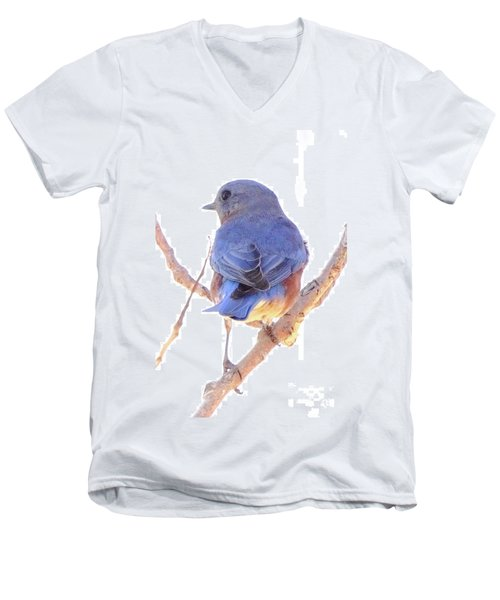 Bluebird On White Men's V-Neck T-Shirt