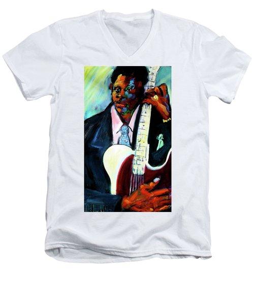 Blues Boy Men's V-Neck T-Shirt by Les Leffingwell