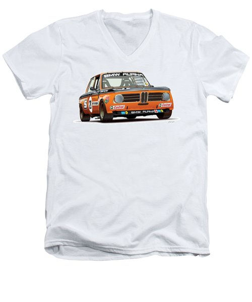 Bmw 2002 Alpina Illustration Men's V-Neck T-Shirt