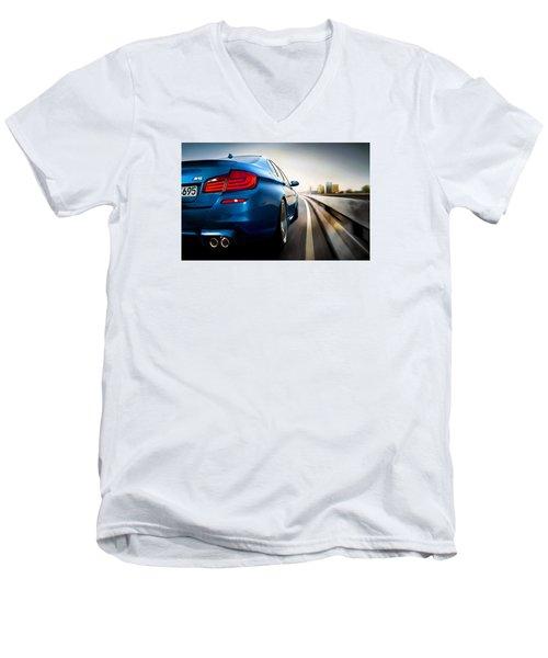 BMW Men's V-Neck T-Shirt by Lanjee Chee