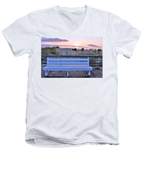 A Welcome Invitation -  The Boardwalk Bench Men's V-Neck T-Shirt