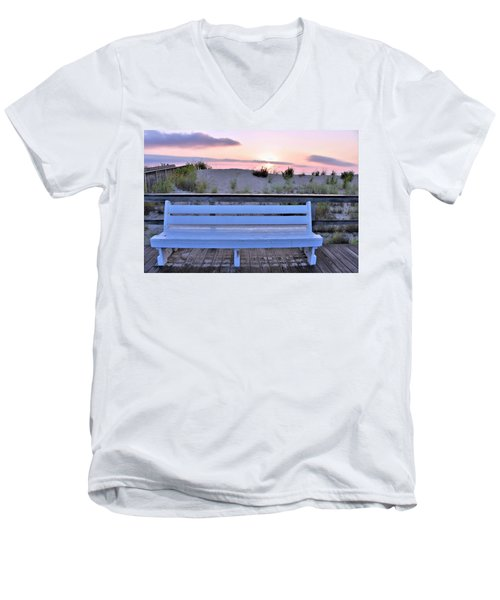 A Welcome Invitation -  The Boardwalk Bench Men's V-Neck T-Shirt