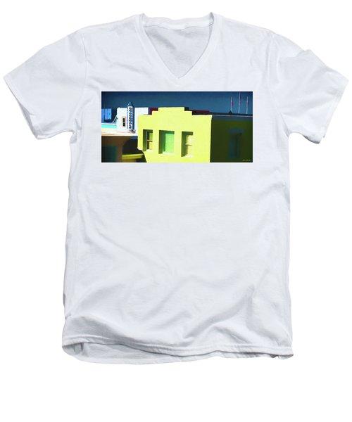 Boardwalk Carolina Beach Men's V-Neck T-Shirt by Glenn Gemmell