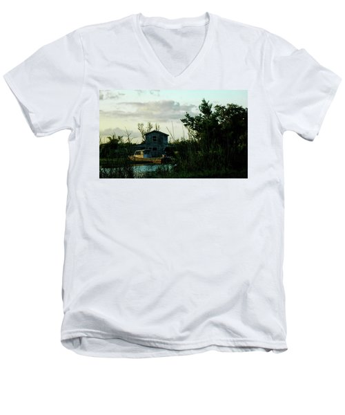 Boat House Men's V-Neck T-Shirt by Cynthia Powell