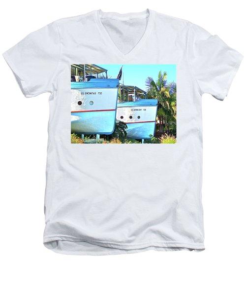 Boat Houses  Men's V-Neck T-Shirt