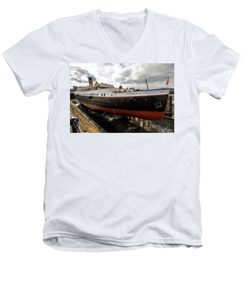 Boat In Drydock Men's V-Neck T-Shirt