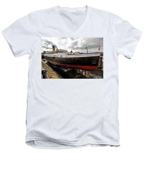 Boat In Drydock Men's V-Neck T-Shirt
