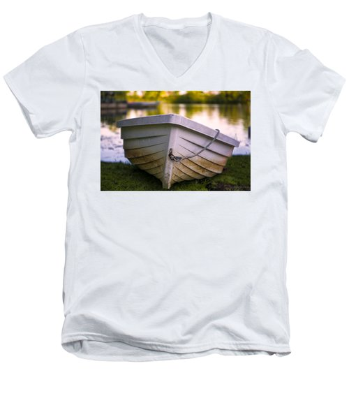 Boat On Land Men's V-Neck T-Shirt