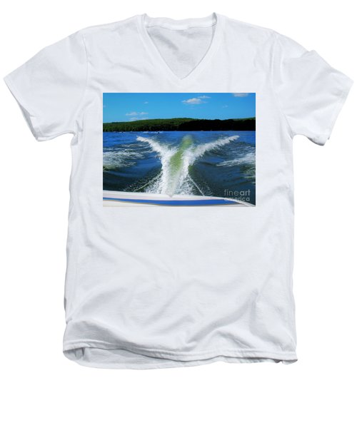 Boat Wake Men's V-Neck T-Shirt