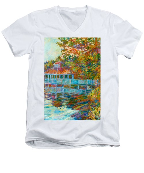Boathouse At Mountain Lake Men's V-Neck T-Shirt