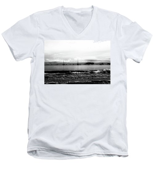 Boats And Clouds Men's V-Neck T-Shirt