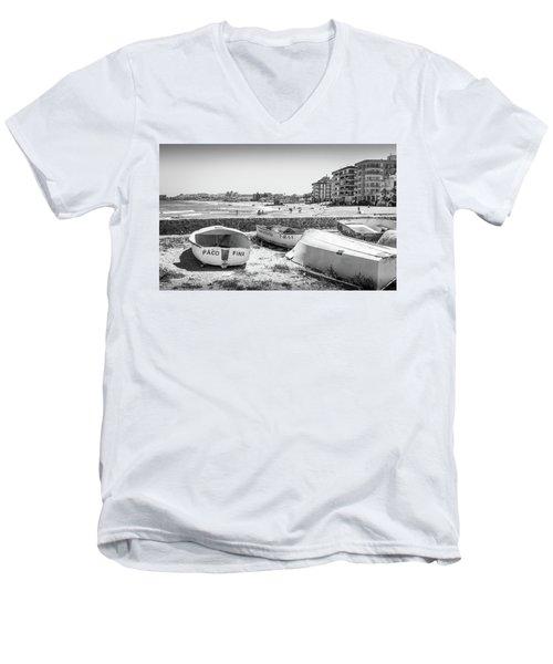 Boats On The Beach Men's V-Neck T-Shirt