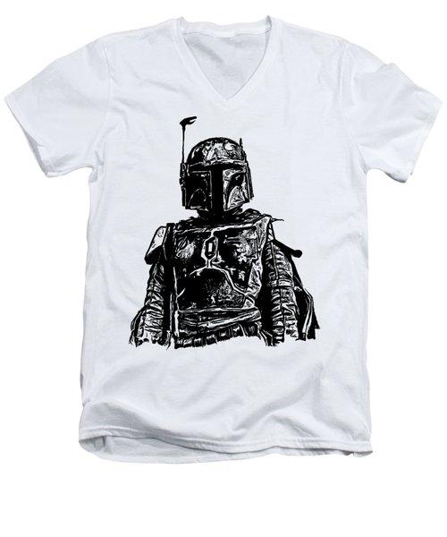 Boba Fett From The Star Wars Universe Men's V-Neck T-Shirt
