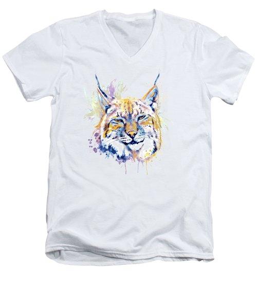 Bobcat Head Men's V-Neck T-Shirt