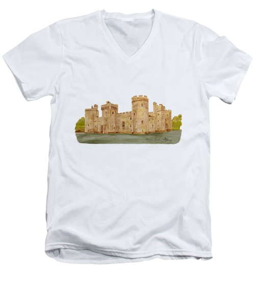 Bodiam Castle Men's V-Neck T-Shirt