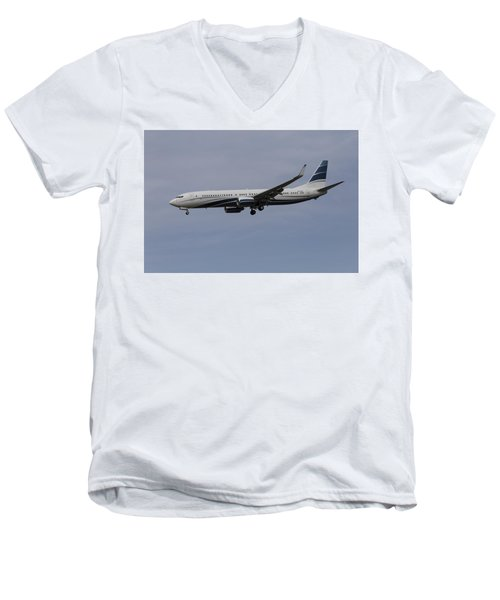Boeing 737 Private Jet Men's V-Neck T-Shirt