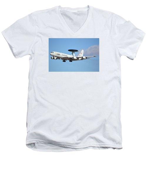 Boeing E-3b 71-1407 Sentry Phoenix Sky Harbor January 9 2015 Men's V-Neck T-Shirt