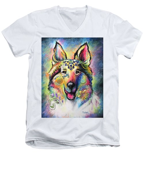 Collie Men's V-Neck T-Shirt