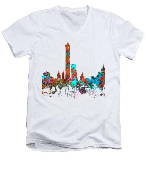 Bologna Italy  Skyline  Men's V-Neck T-Shirt by Marlene Watson