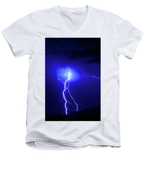 Bolt From The Blue Men's V-Neck T-Shirt