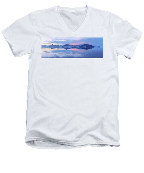 Men's V-Neck T-Shirt featuring the photograph Bonneville Lake by Chad Dutson