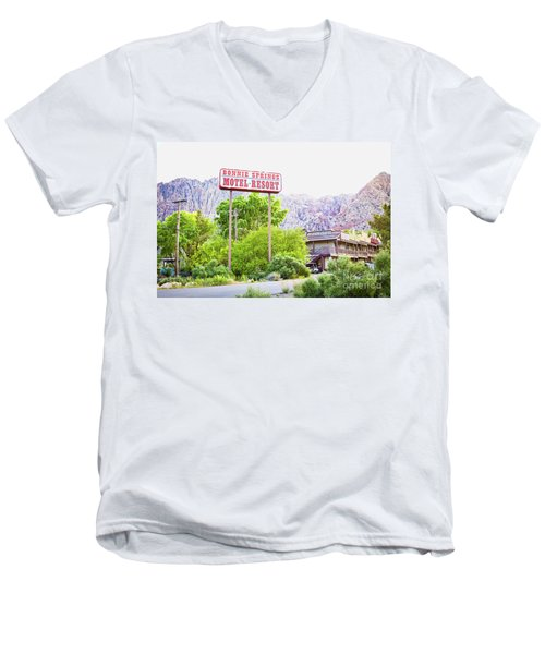 Bonnie Springs Motel Resort Men's V-Neck T-Shirt