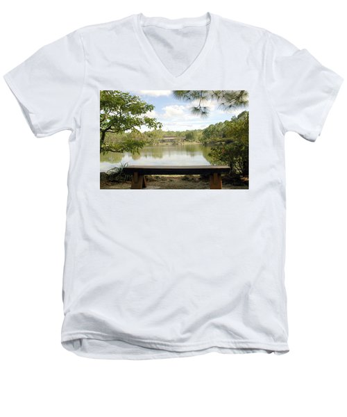 Bonsai Lake Men's V-Neck T-Shirt