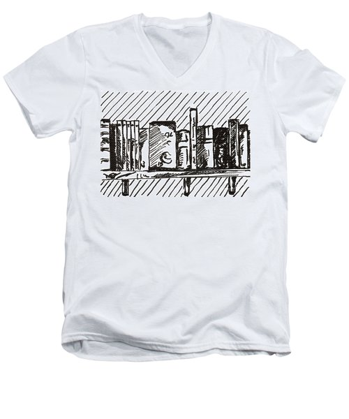 Bookshelf 1 2015 - Aceo Men's V-Neck T-Shirt