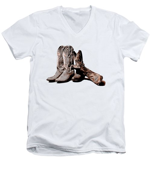 Boot Friends White Background Men's V-Neck T-Shirt