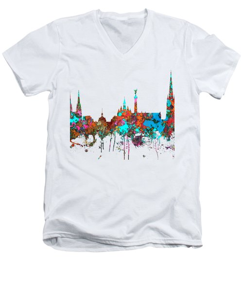 Bordeaux France  Skyline  Men's V-Neck T-Shirt