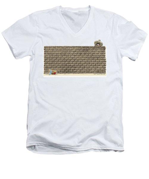 Border Wall Men's V-Neck T-Shirt