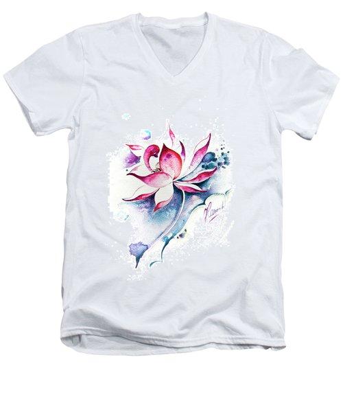 Born For Freedom Men's V-Neck T-Shirt by Anna Ewa Miarczynska