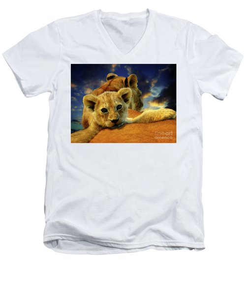 Born Free IIi Men's V-Neck T-Shirt