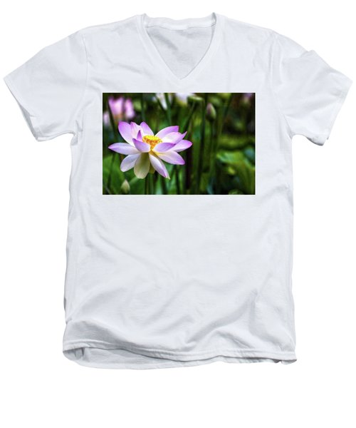 Men's V-Neck T-Shirt featuring the photograph Born Of The Water by Edward Kreis