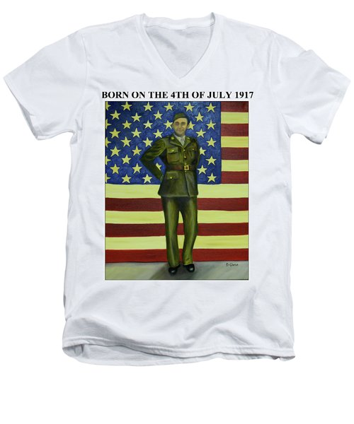 Born On The 4th Of July Men's V-Neck T-Shirt