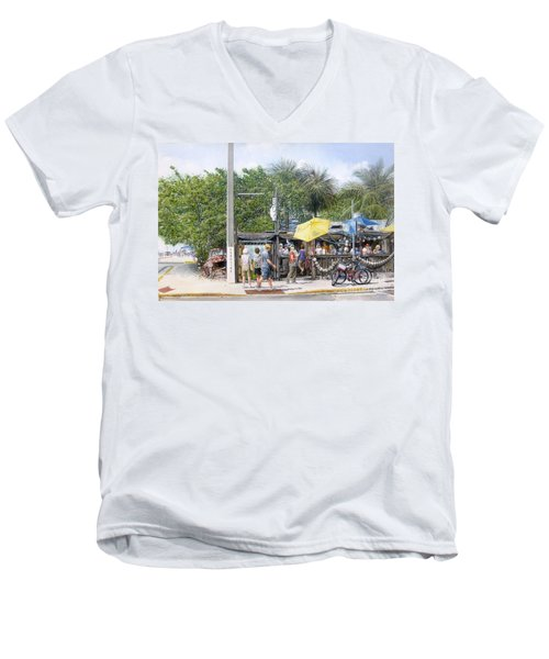 Bos Fish Wagon Men's V-Neck T-Shirt