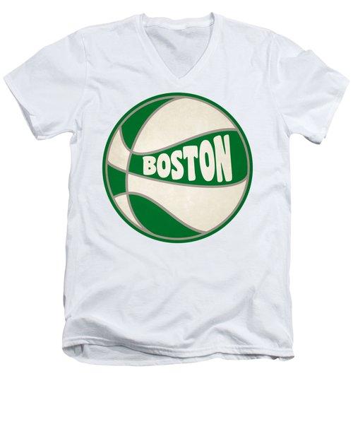 Boston Celtics Retro Shirt Men's V-Neck T-Shirt by Joe Hamilton