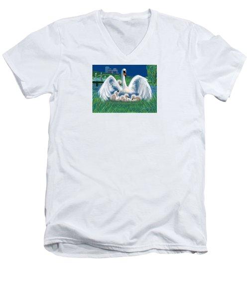 Boston Embraces Her Own Men's V-Neck T-Shirt