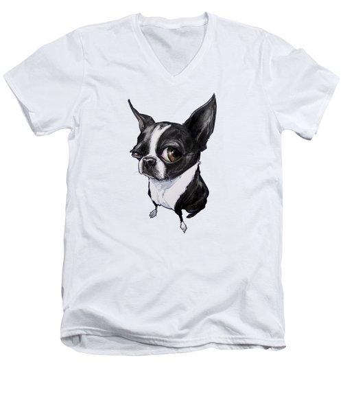 Boston Terrier Men's V-Neck T-Shirt