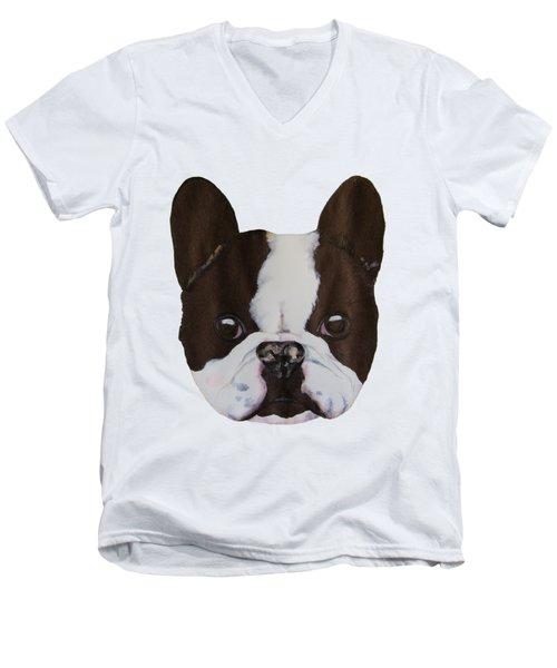 Boston Terrier Men's V-Neck T-Shirt by John Stuart Webbstock