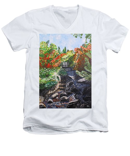 Botanic Garden Merano 1 Men's V-Neck T-Shirt
