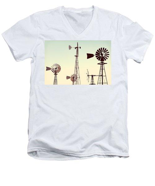 Bountiful Windmills Men's V-Neck T-Shirt