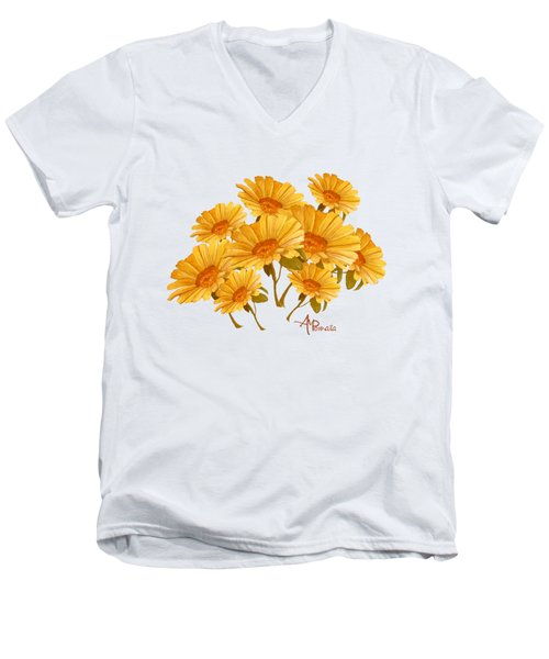 Bouquet Of Daisies Men's V-Neck T-Shirt