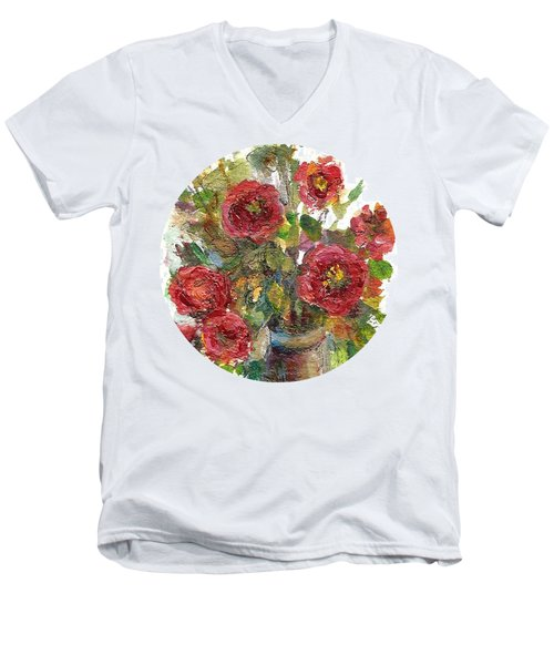 Bouquet Of Poppies Men's V-Neck T-Shirt