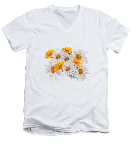 Bouquet Of Wild Flowers Men's V-Neck T-Shirt by Angeles M Pomata