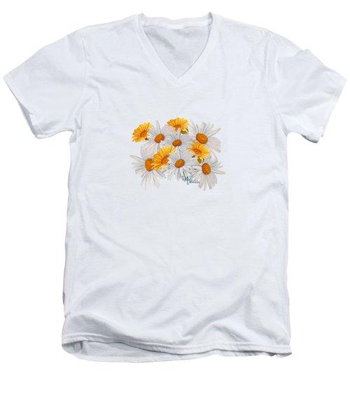 Bouquet Of Wild Flowers Men's V-Neck T-Shirt