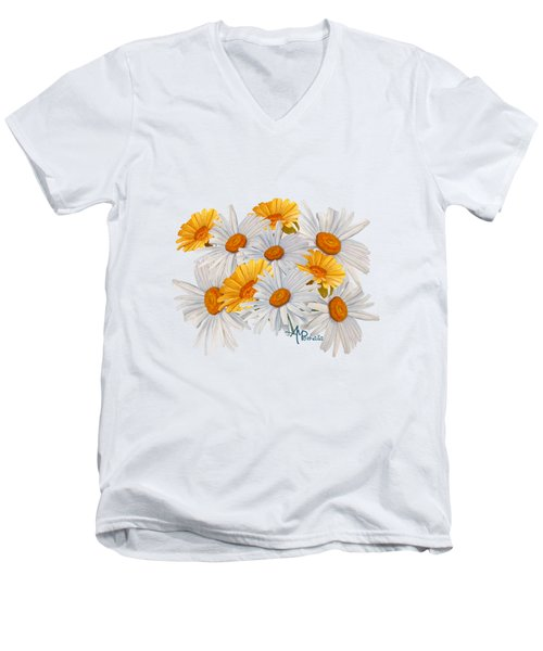 Bouquet Of Wild Flowers Men's V-Neck T-Shirt